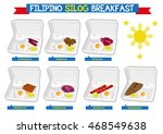 set of filipino breakfast...