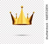 isolated gold crown  eps 10   Shutterstock .eps vector #468552854