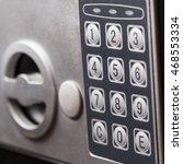 electronic home safe keypad ... | Shutterstock . vector #468553334