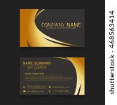 vector business card gold | Shutterstock .eps vector #468563414