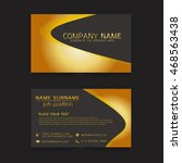 vector business card gold | Shutterstock .eps vector #468563438