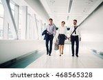 business people walking. | Shutterstock . vector #468565328