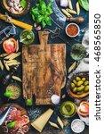 italian food cooking... | Shutterstock . vector #468565850