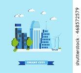 smart city concept vector... | Shutterstock .eps vector #468572579