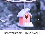 Peach And Purple Birdhouse...