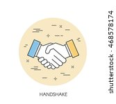 handshake vector thin line icon   Shutterstock .eps vector #468578174