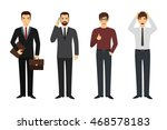 set of businessman character in ... | Shutterstock .eps vector #468578183