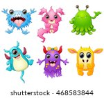 halloween monster set collection | Shutterstock . vector #468583844