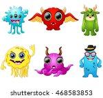 halloween monster set collection | Shutterstock . vector #468583853