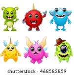 halloween monster set collection | Shutterstock . vector #468583859