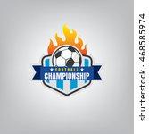 soccer logo emblem design...   Shutterstock .eps vector #468585974