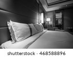 black and white style   hotel... | Shutterstock . vector #468588896