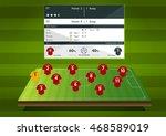 football or soccer match... | Shutterstock .eps vector #468589019
