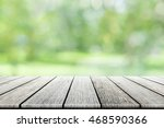empty wooden table with party... | Shutterstock . vector #468590366