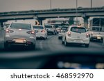 traffic jam on express way in... | Shutterstock . vector #468592970