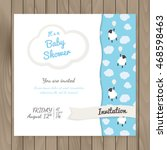vector template for design baby ... | Shutterstock .eps vector #468598463