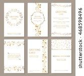 vector set of six templates... | Shutterstock .eps vector #468598496