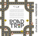 design road   street template... | Shutterstock .eps vector #468604868