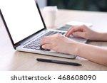 business woman using mock up... | Shutterstock . vector #468608090