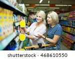 positive woman clients buying... | Shutterstock . vector #468610550