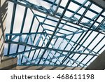 structure of steel roof frame... | Shutterstock . vector #468611198