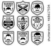 vector set of barber labels for ... | Shutterstock .eps vector #468617534