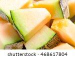 Cantaloupe Melon Background...