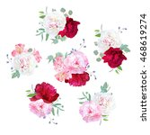 small wedding floral bouquets... | Shutterstock .eps vector #468619274