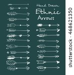 collection of ethnic arrows... | Shutterstock .eps vector #468621350