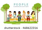 modern society. people... | Shutterstock .eps vector #468622316