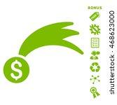 lucky money icon with bonus...   Shutterstock .eps vector #468623000