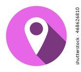 mark icon. flat design. | Shutterstock .eps vector #468626810