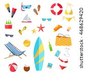 accessories for the summer... | Shutterstock . vector #468629420