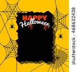 background with spider web for ... | Shutterstock .eps vector #468632438