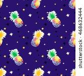 Pineapple Background. Seamless...