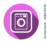 washing machine icon. flat...