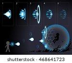 shooting effect animation. | Shutterstock .eps vector #468641723