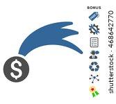 lucky money icon with bonus...   Shutterstock .eps vector #468642770