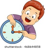 illustration of a little boy... | Shutterstock .eps vector #468644858