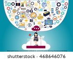 vector search business... | Shutterstock .eps vector #468646076