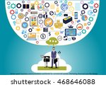 vector search business... | Shutterstock .eps vector #468646088