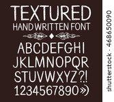hand drawn textured vector abc... | Shutterstock .eps vector #468650090
