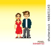 pixel romantic couple ... | Shutterstock .eps vector #468651143