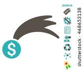 lucky money icon with bonus...   Shutterstock .eps vector #468653138