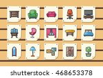 home furniture icons set eps10 | Shutterstock .eps vector #468653378