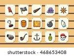 Pirate Icons Set Eps10