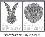 Calendar 2017. Beautiful Ornat...