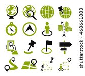 location  place icon set | Shutterstock .eps vector #468661883