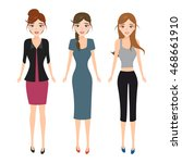 woman character fashion style. | Shutterstock .eps vector #468661910