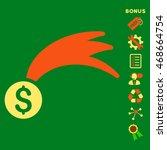 lucky money icon with bonus...   Shutterstock .eps vector #468664754